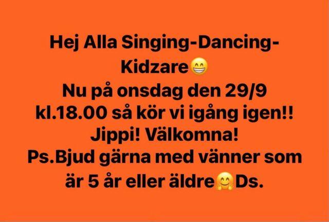Singing-Dancing-Kidz drar igång igen :-)